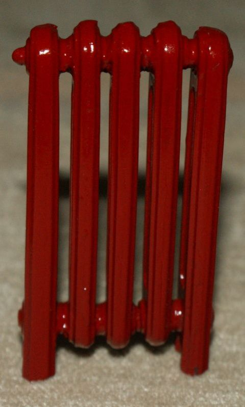 Red 5 Bar Victorian Style Radiator...guaranteed not to leak!